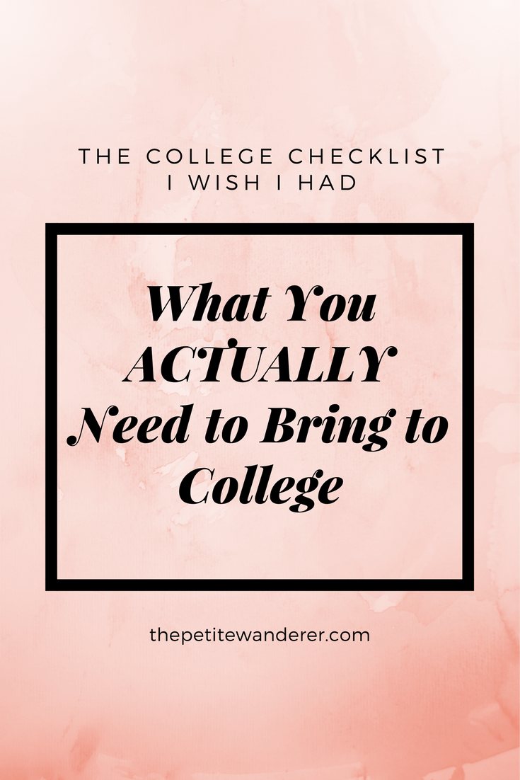 Ultimate College Dorm Room Checklist: What You ACTUALLY Need to Bring to College