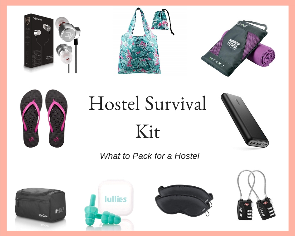 Hostel Survival Kit | What to Pack for a Hostel