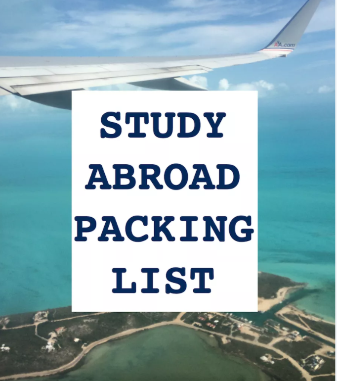 Study Abroad Packing List II A College Student's Guide to Packing for Abroad